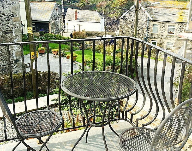 Village views from the patio at Stowaway, a self catering holiday rental in Port Isaac, Cornwall.