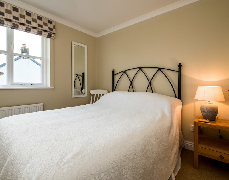 The double bedroom in Brea, a self catering holiday house to rent in Tredizzick, Rock, Cornwall.