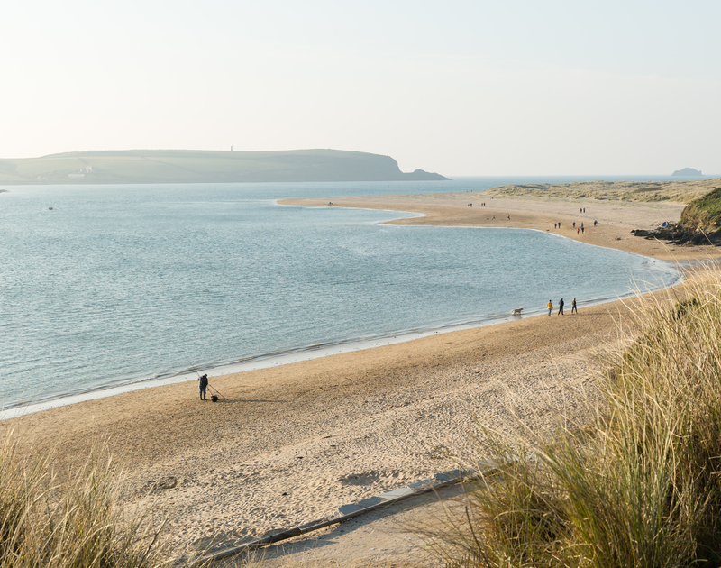 The sandy beaches of Rock are just a stone's throw from Whiteaway holiday cottage in North Cornwall.