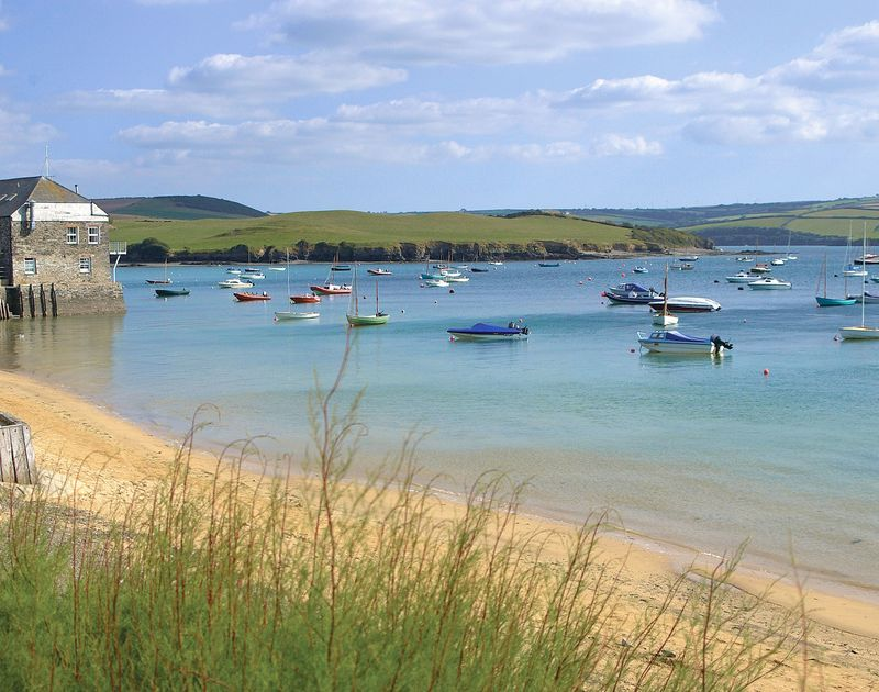The beautiful Camel Estuary, just a short stroll from Scarthoe cottage in Rock, North Cornwall.