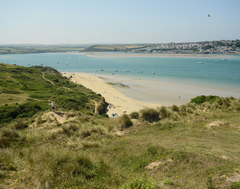 The sandy beaches of Rock are just a stone's throw from Peppercorn cottage in North Cornwall.