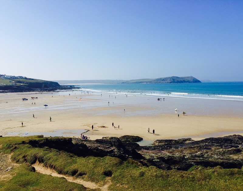 Polzeath beach is just a short walk from Trehaverock Cottage on the North Cornwall coast.