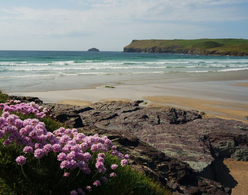 Polzeath beach is just a short walk from Trehaverock Cottage on the North Cornish coastline.