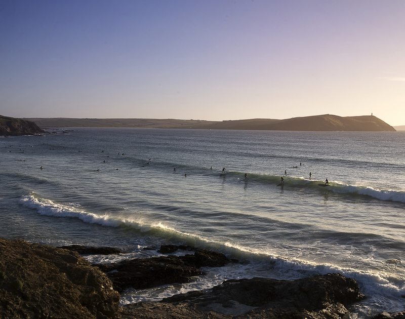 Catch some waves at the famous Polzeath beach, just a short walk from An Skyber Barn.