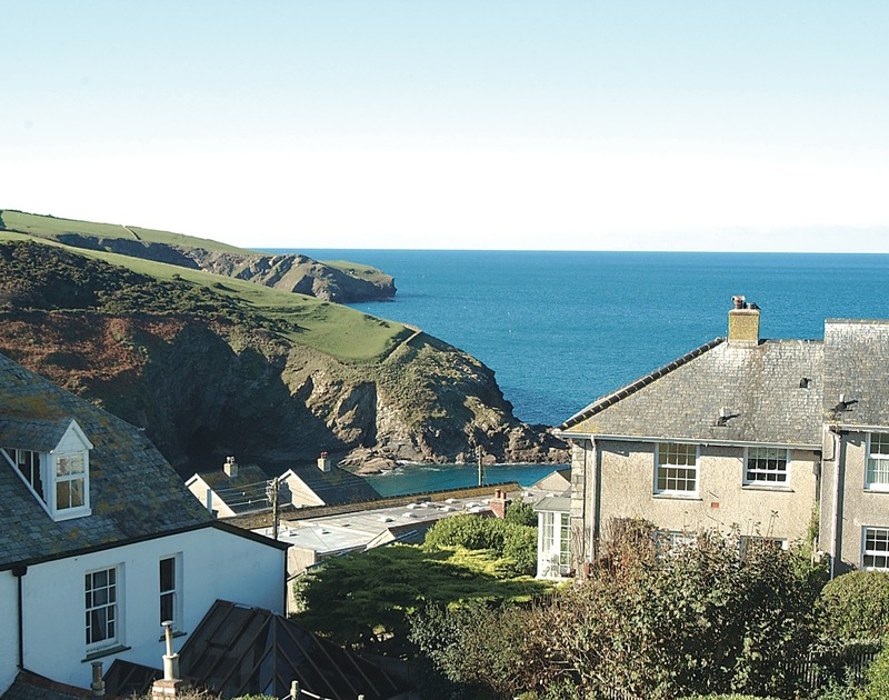 Harbour, sea and village views from Tremanon, a self catering holiday cottage to rent in Port Isaac, North Cornwall.
