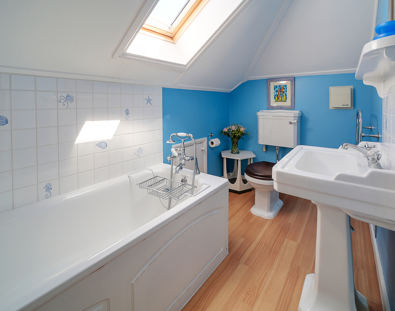 The super king bedroom ensuite at The Haven holiday home in Daymer Bay.