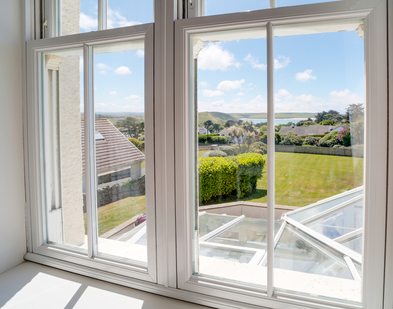 The gorgeous views over Daymer Bay at The Haven holiday home in North Cornwall.