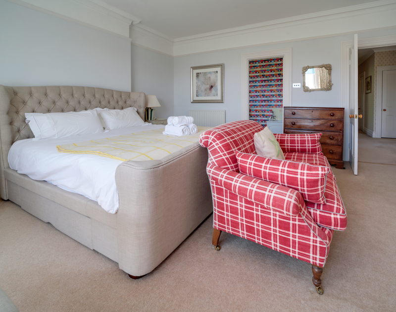 The super king bedroom at The Haven self catering holiday home in Daymer Bay.