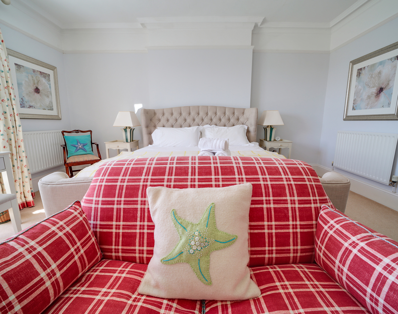 The super king bedroom at The Haven holiday home in Daymer Bay.