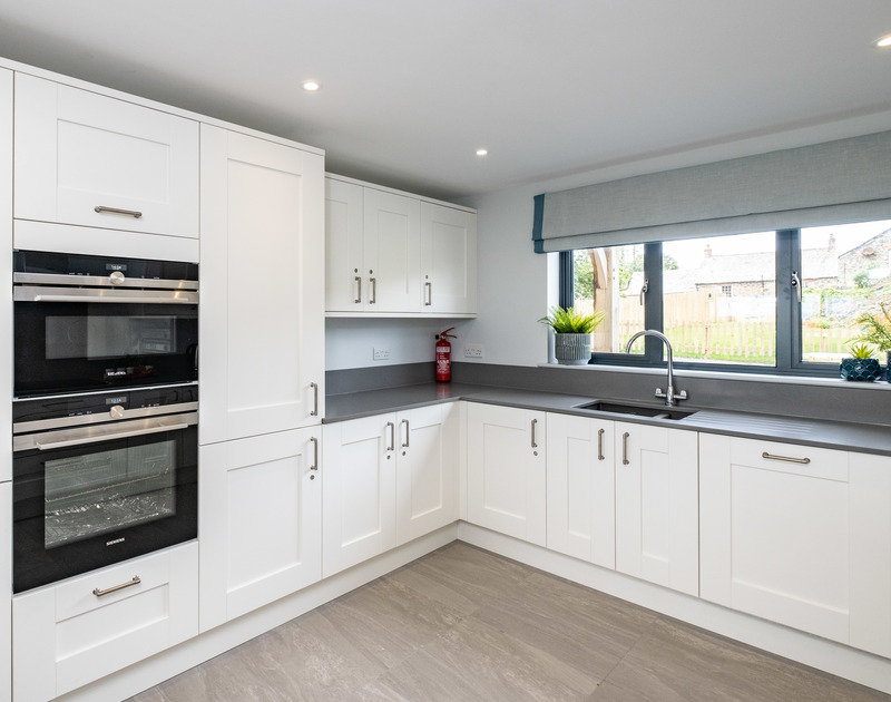 The well-equipped kitchen is perfect for cooking up a storm at Tor View holiday home in St Minver on the north Cornish coast.