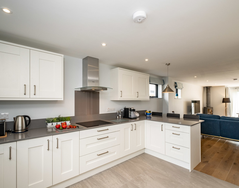 The well-equipped kitchen is perfect for cooking up a storm at Tor View holiday home in St Minver, Rock on the north Cornish coast.