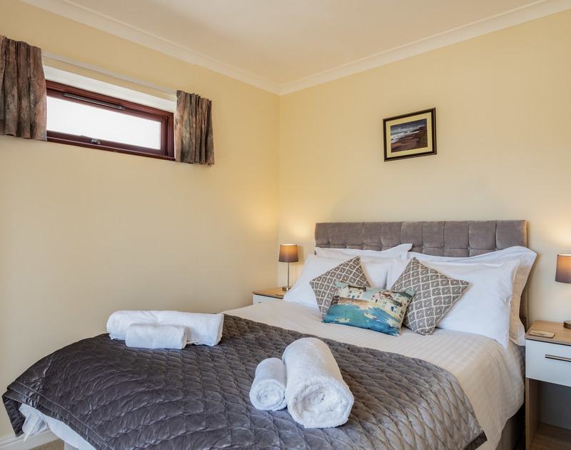 The master bedroom at Penventon self catering holiday home in Port Isaac, North Cornwall.