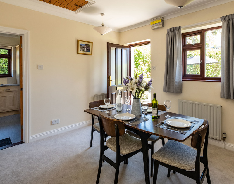 The lovely dining room at Penventon holiday home in Port Isaac, Cornwall.