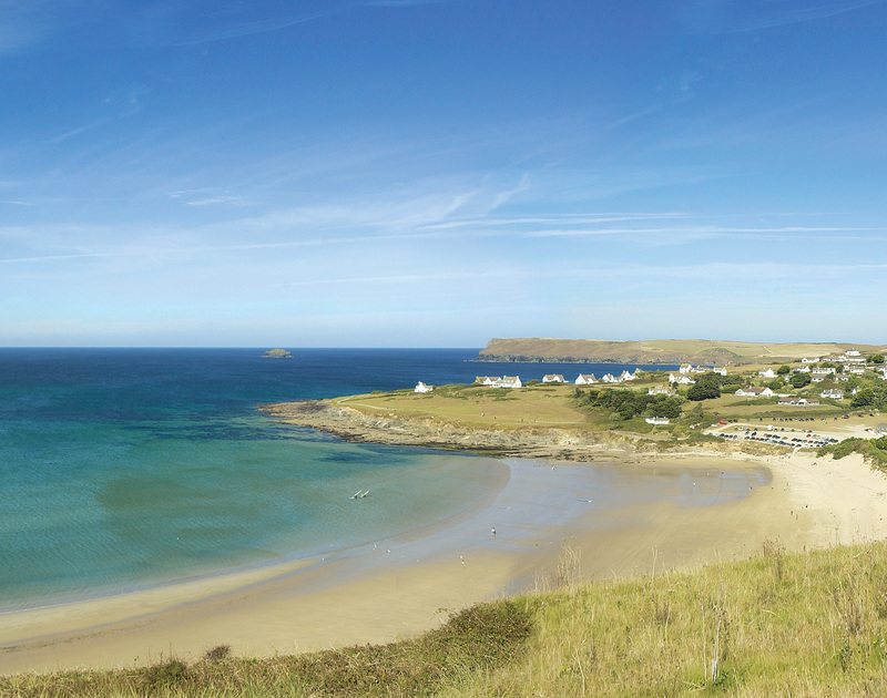 Daymer Bay, just a short walk from Worthy House self catering holiday home on the north Cornish coast.