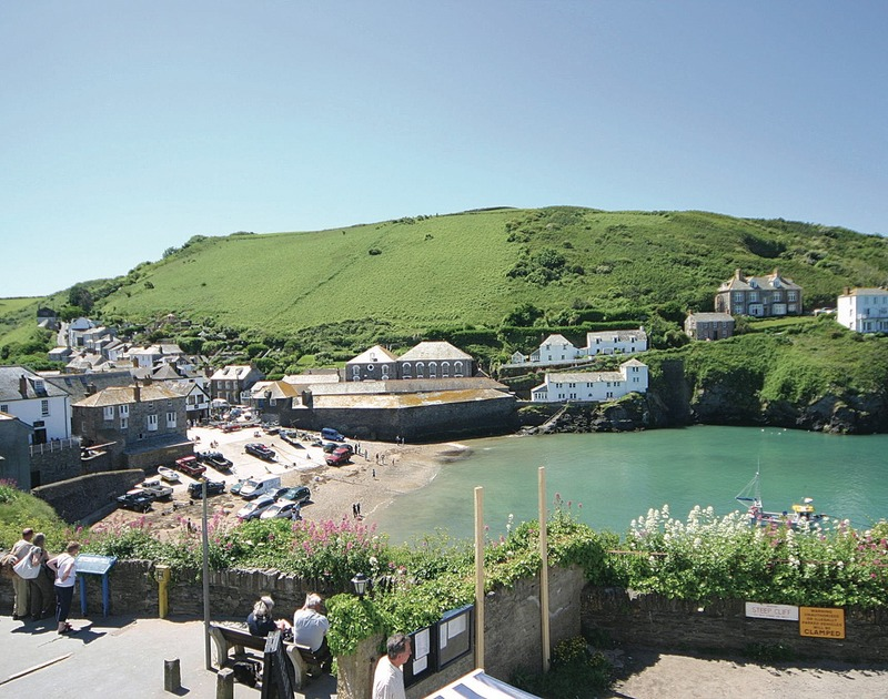 The stunning view of Port Isaac harbour in North Cornwall taken from Gully Lofts, a first floor self-catering apartment.