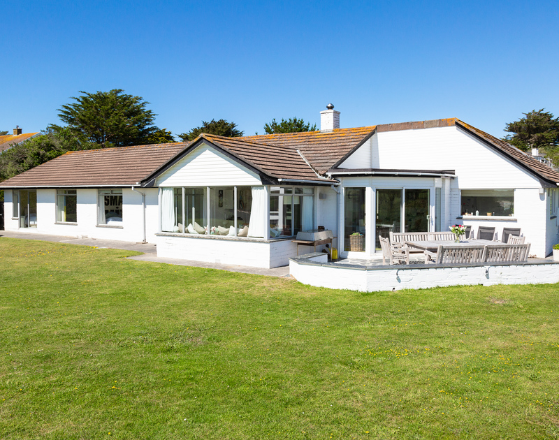 The external view of Sandy Lodge self catering holiday home in Daymer Bay on the North Cornish coast.