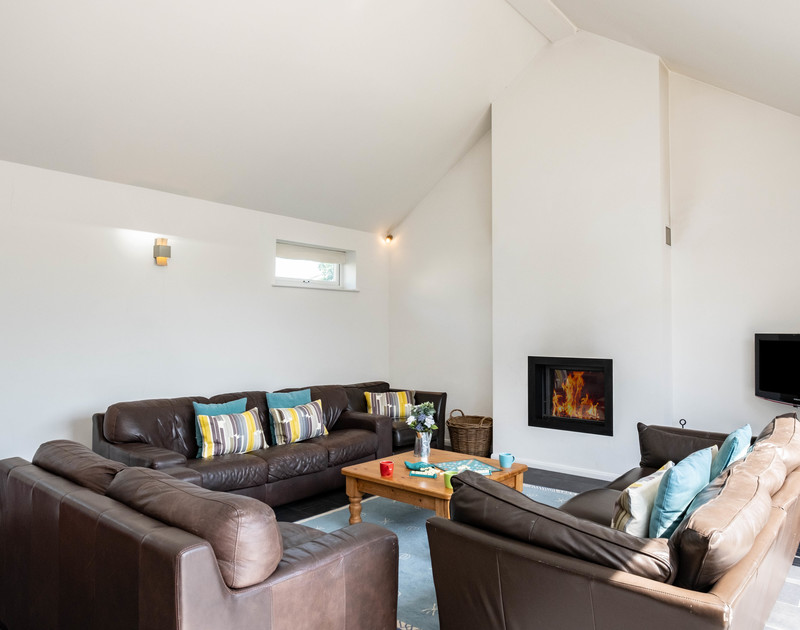 The cosy lounge at Lerryn self catering holiday home in Rock, North Cornwall.