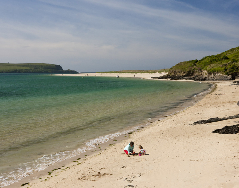 Rock beach, just a short drive from Tremay self catering holiday home in Rock, North Cornwall.