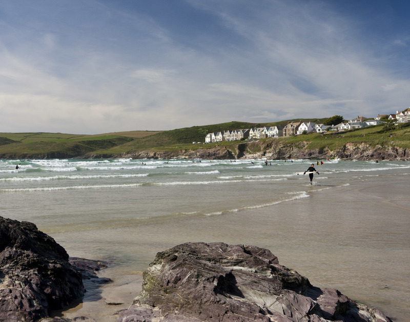 Polzeath beach, just a few minutes walk from Pengelly self catering holiday home in Polzeath, North Cornwall.