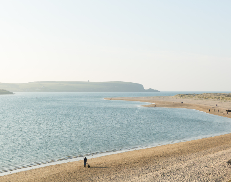 Rock beach, a few minutes from Chimings self catering pet-friendly holiday home in Rock, North Cornwall.