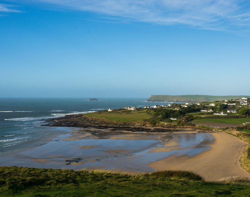 Daymer Bay beach, just moments from Greenaway Heights self catering holiday home in Daymer Bay, North Cornwall.