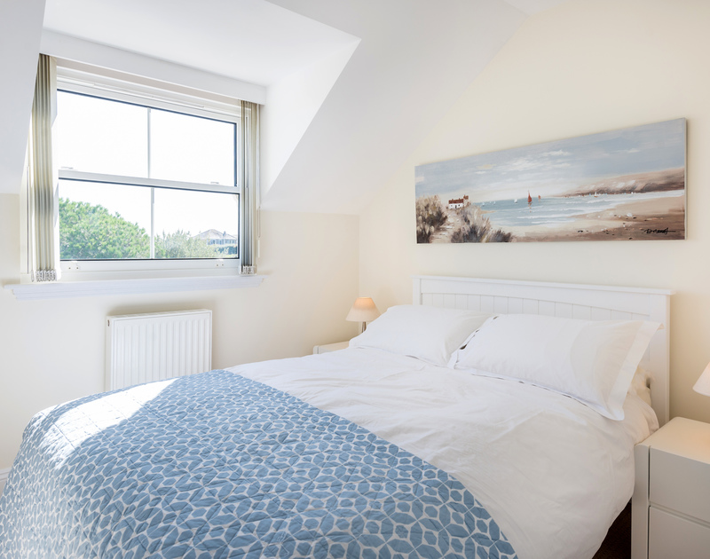 The double bedroom at The Chalet self catering holiday home in Polzeath, North Cornwall.
