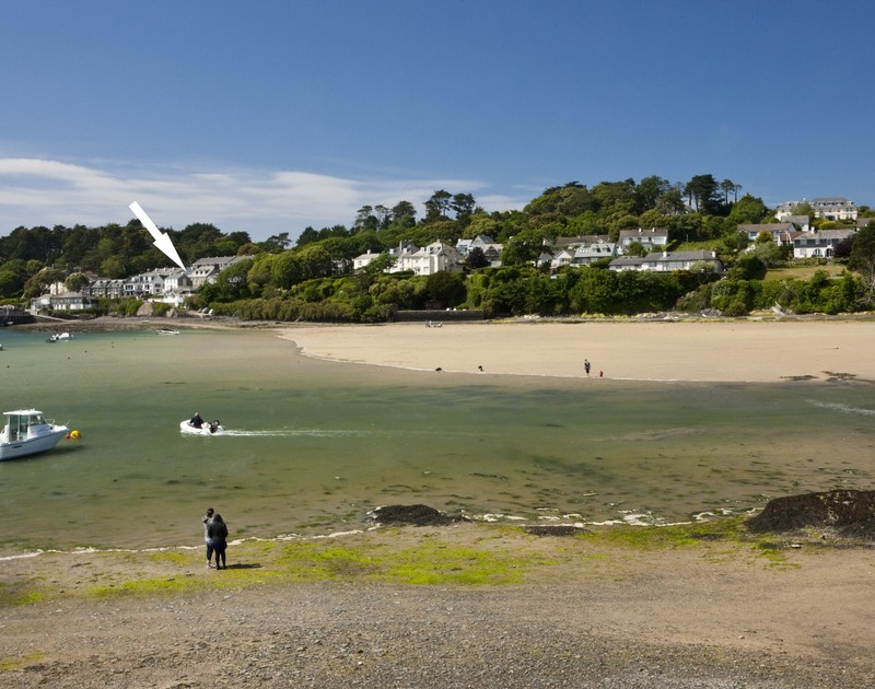 A view of Slipway 7 from across Porthilly beach a self catering holiday home in Rock, North Cornwall.