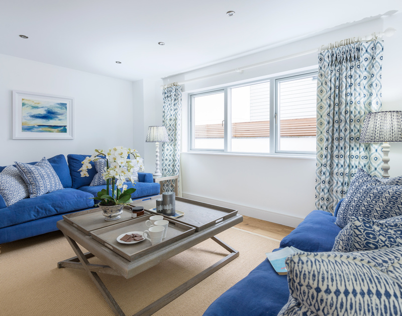 The grand sitting room at Artemis self catering holiday home in Rock, North Cornwall.