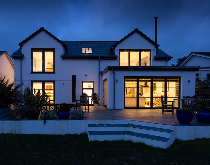 Chy-An-Ros exterior self catering holiday home in New Polzeath, North Cornwall.