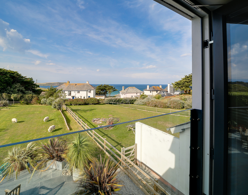 The beautiful sea views from Chy-An-Ros self catering holiday home in New Polzeath, North Cornwall.