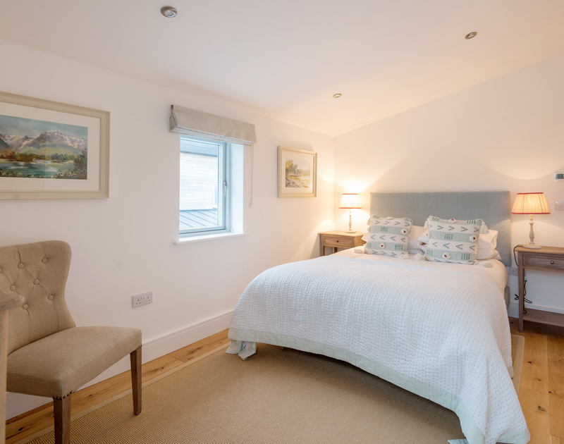 The double bedroom at Artemis self catering holiday home in Rock, North Cornwall.