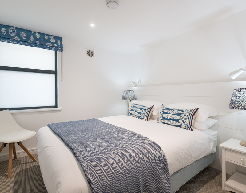 The double bedroom at Greenaway self catering holiday home in New Polzeath, North Cornwall.