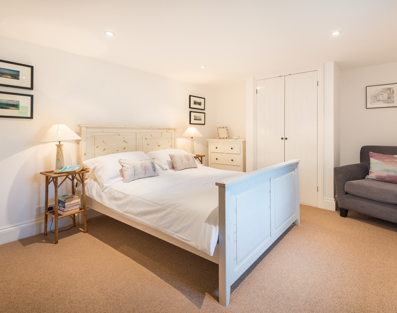 The double bedroom at Orchard Cottage self catering holiday home in Trelights, Port Isaac, North Cornwall.