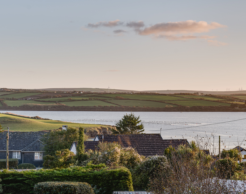 The peaceful views over the Camel estuary from Landers Field self catering holiday home in Rock, North Cornwall.