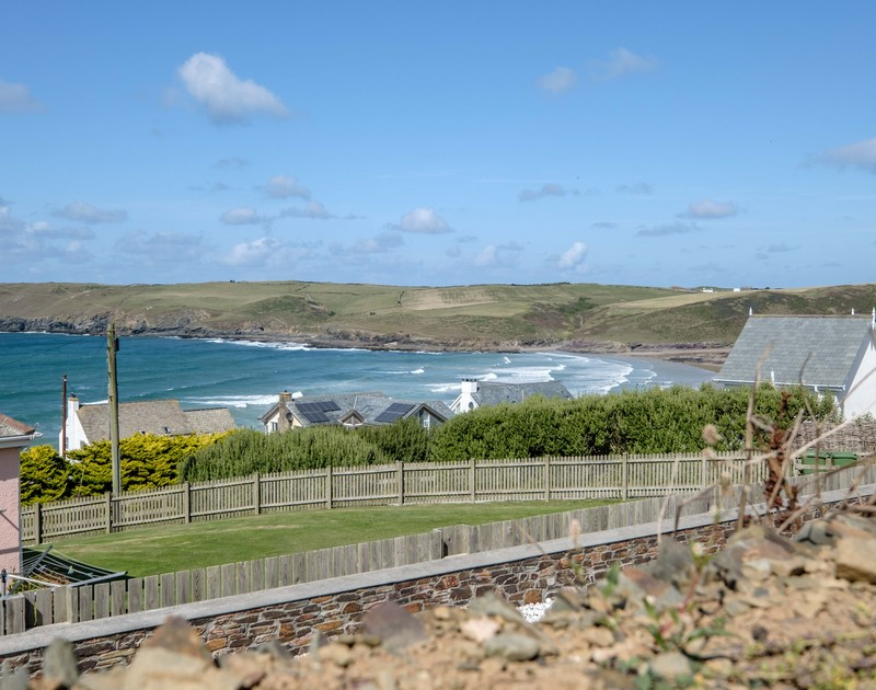 Watch the waves roll in from Trequite self catering holiday home in Polzeath, North Cornwall.