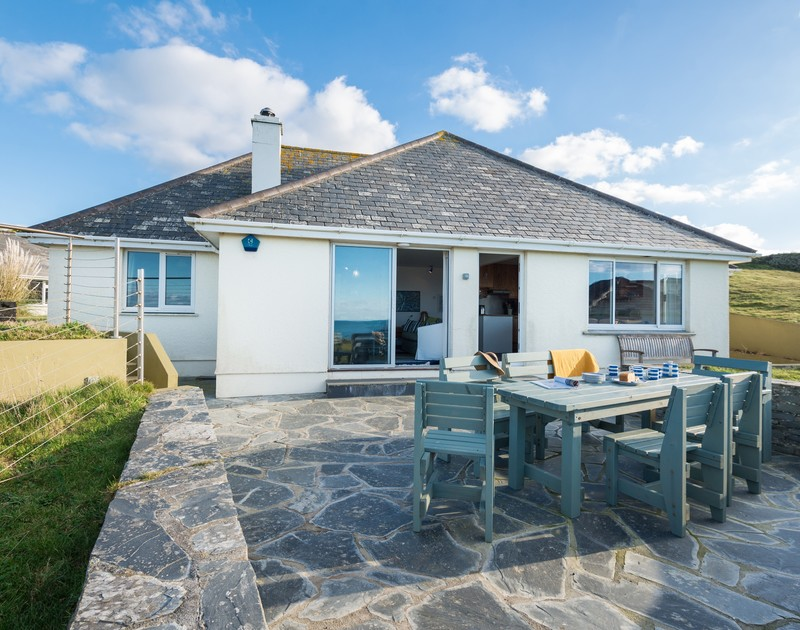 The external view of Upper Gren self catering holiday home in Daymer Bay, North Cornwall.