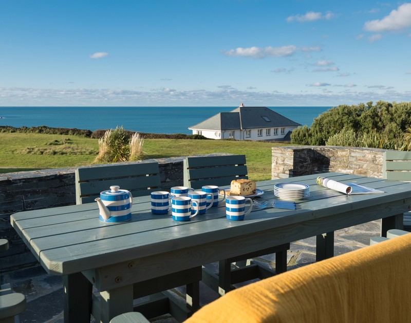 Enjoy relaxing afternoons admiring the sea views at Upper Gren self catering holiday home in Daymer Bay, North Cornwall.