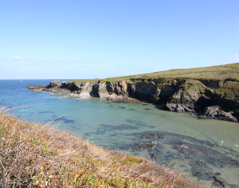 The view from the beautiful coastal walks around Port Gaverne at Stoptide Cottage self catering pet friendly holiday home in Port Isaac, North Cornwall.