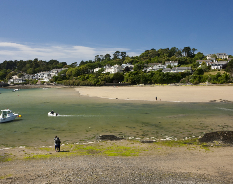 Porthilly Cove just a few minutes walk from Upper Deck self catering holiday home in Rock, North Cornwall.