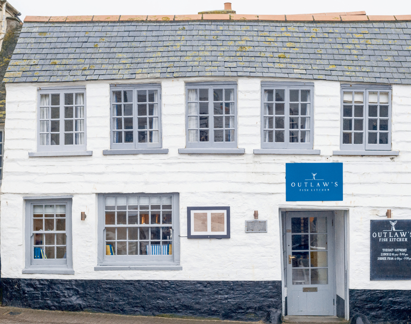 Nathan Outlaw's Fish Kitchen, just a few minutes walk from Kipper Cottage self catering holiday home in Port Isaac, North Cornwall.