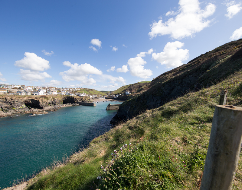 The lovely view from the coastal paths in Port Isaac self catering holiday home in North Cornwall.