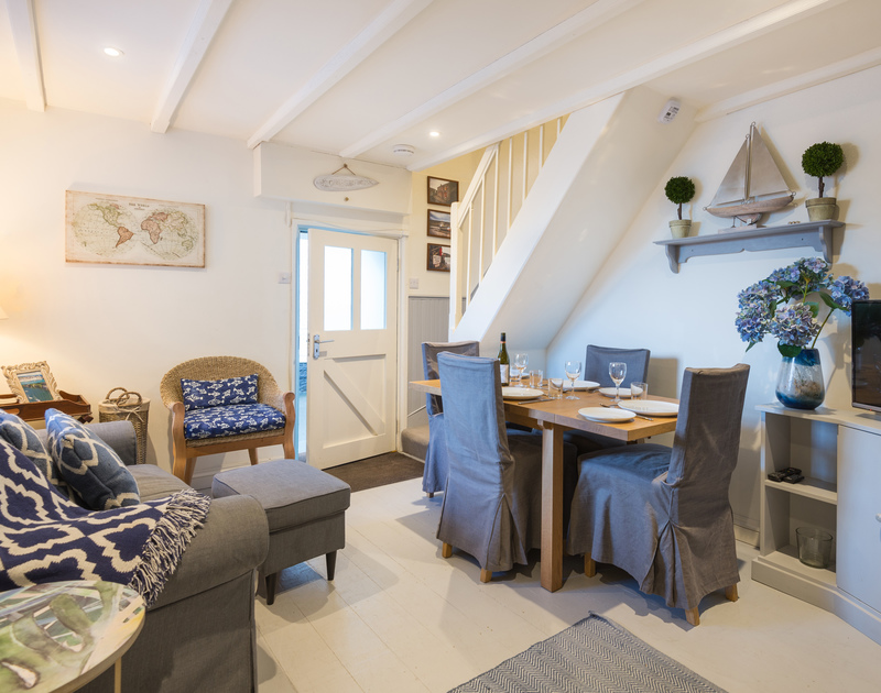 Relax in the lovely living room after a day of exploring Port Isaac in Morley's Cottage self catering holiday home in Port Isaac, North Cornwall.