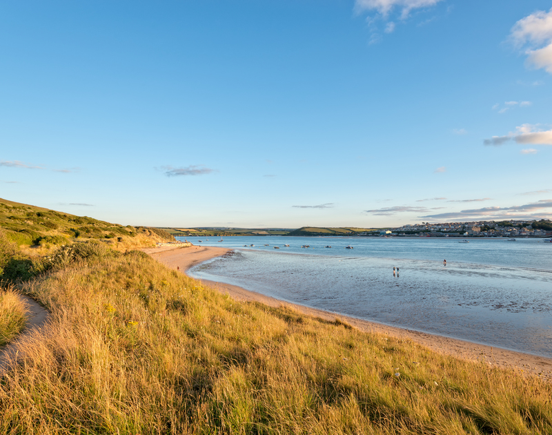 The beautiful Camel Estuary a few moments from White Star self catering holiday home in Rock, North Cornwall.