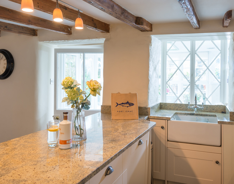 The kitchen of Trevan House, in Port Isaac