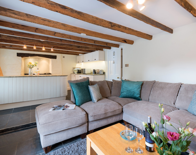 Relax on the comfy sofa of Trevan House