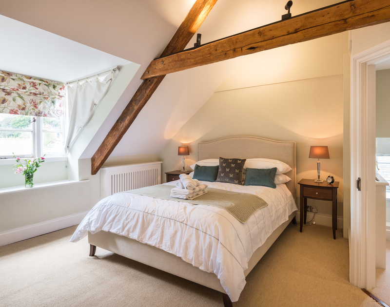 The characterful master bedroom on the top floor of Trevan House (2nd floor)
