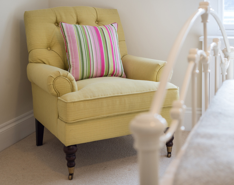 A cosy armchair at Trevan House