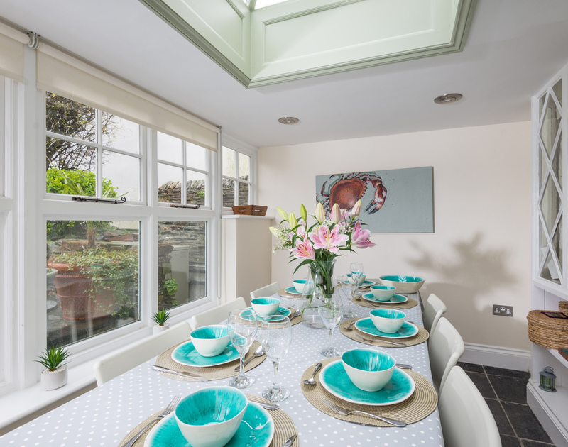 The conservatory of Trevan House is the perfect spot for a sit-down meal