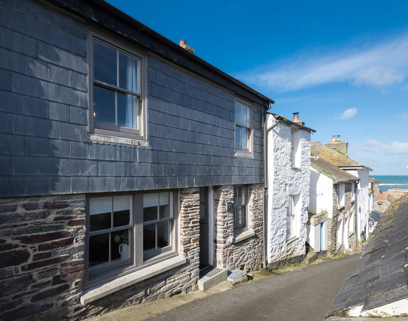 The front of Scuppers on Church Hill, Port Isaac, in the heart of the Old Harbour