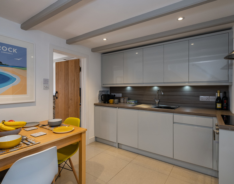 The well-equipped, contemporary kitchen of Stokes Cottage